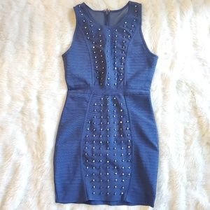 WOW COUTURE BEADED BANDAGE BODYCON DRESS